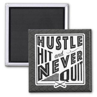 Field Hockey Hustle Hit & Never Quit Magnet