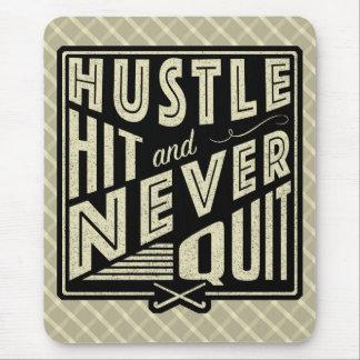 Field Hockey Hustle Hit & Never Quit Mouse Mat