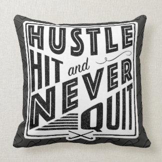 Field Hockey Hustle, Hit & Never Quit Pillow