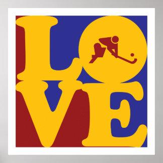 Field Hockey Love Poster