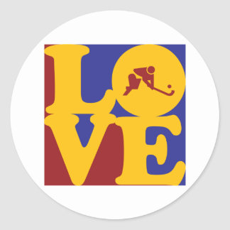 Field Hockey Love Classic Round Sticker