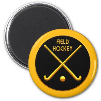 Field Hockey 2 Inch Round Magnet