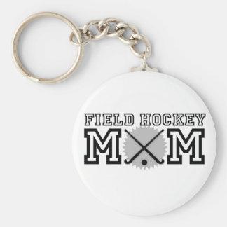 Field Hockey Mom Basic Round Button Keychain
