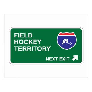 Field Hockey Next Exit Postcard
