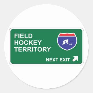 Field Hockey Next Exit Round Sticker