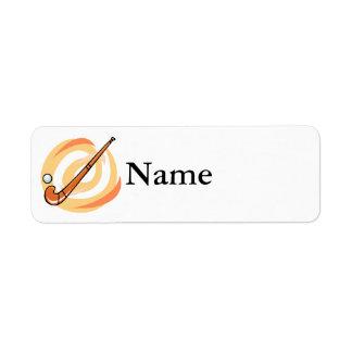 Field Hockey orange logo Return Address Label