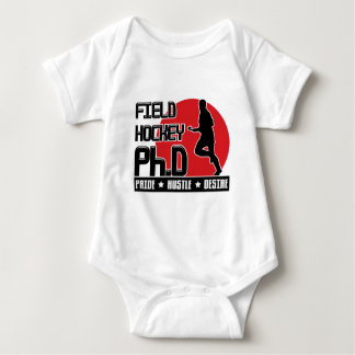 Field Hockey Ph.D Babygrow Tee Shirt