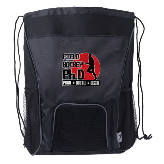 Field Hockey Ph.D Drawstring Backpack