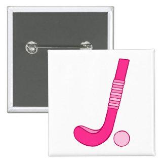 Field Hockey Pink ball stick Button