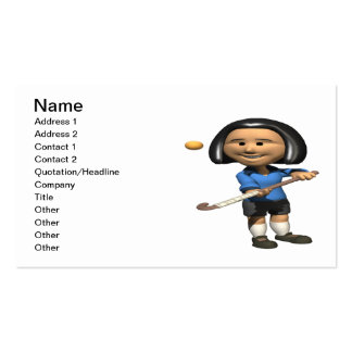 Field Hockey Player 2 Business Card Templates