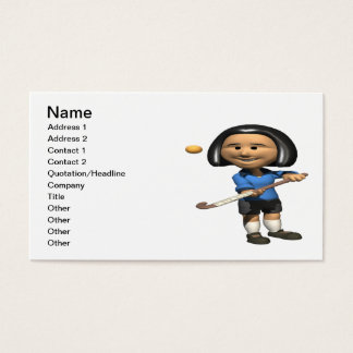 Field Hockey Player 2 Business Card