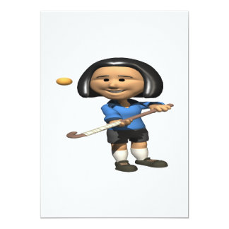 Field Hockey Player 2 Card