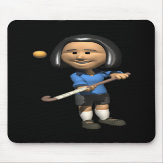 Field Hockey Player 2 Mouse Pad