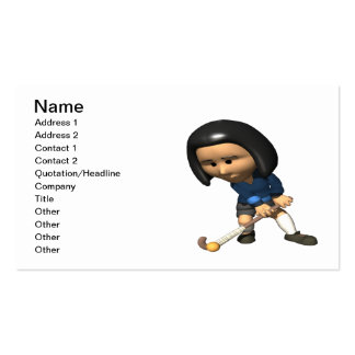 Field Hockey Player 3 Business Card Templates