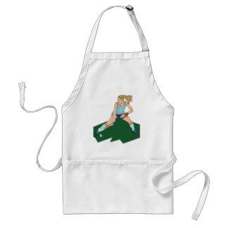 Field Hockey Player Adult Apron