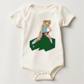 Field Hockey Player Baby Bodysuit