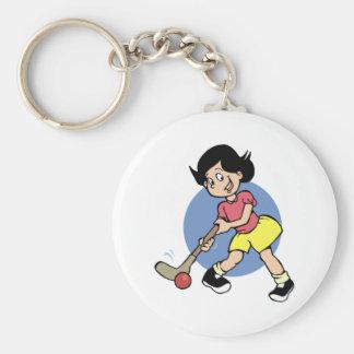 Field Hockey Player Keychain