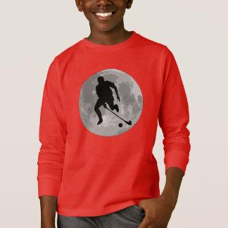 Field Hockey Player Moon T-Shirt
