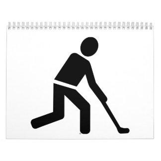 Field hockey player symbol calendar