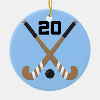 Field Hockey Player Uniform Number 20 Gift Christmas Ornaments