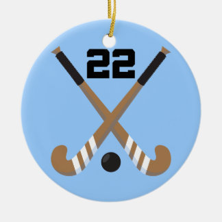 Field Hockey Player Uniform Number 22 Gift Christmas Tree Ornaments