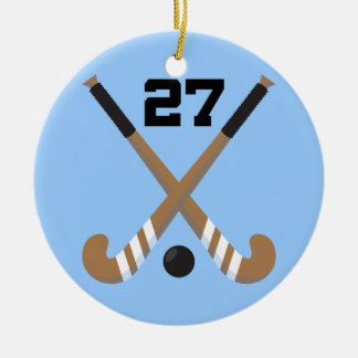 Field Hockey Player Uniform Number 27 Gift Ornament