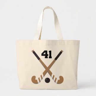 Field Hockey Player Uniform Number 41 Gift Tote Bags