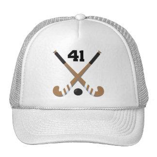 Field Hockey Player Uniform Number 41 Gift Mesh Hat
