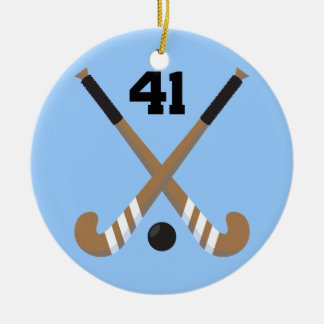 Field Hockey Player Uniform Number 41 Gift Christmas Ornament