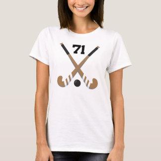 Field Hockey Player Uniform Number 71 Gift T-Shirt
