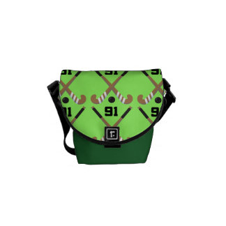 Field Hockey Player Uniform Number 91 Gift Courier Bags
