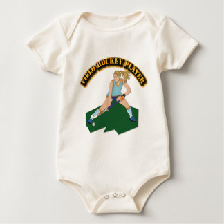 Field Hockey Player with Text Baby Bodysuit