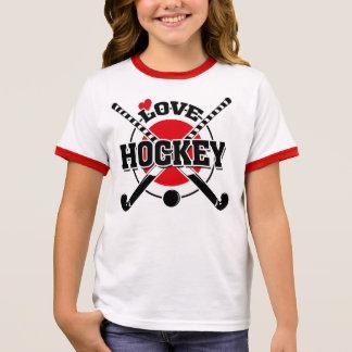 Field Hockey Players, Crossed Hockey Sticks Ringer T-Shirt