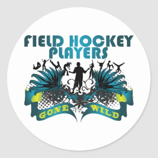 Field Hockey Players Gone Wild Round Stickers