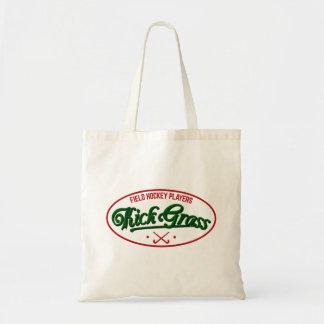 Field Hockey Players KickGrass Budget Tote Bag