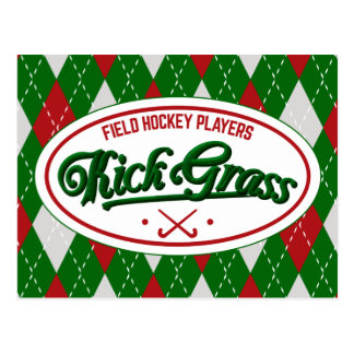 Field Hockey Players KickGrass Post Card
