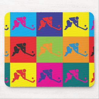Field Hockey Pop Art Mouse Pad