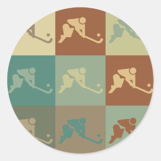 Field Hockey Pop Art Sticker