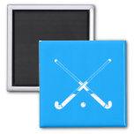 Field Hockey Silhouette Magnet Blue