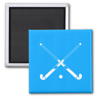 Field Hockey Silhouette Magnet Blue