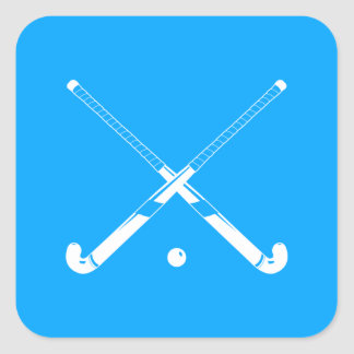 Field Hockey Silhouette Sticker Blue