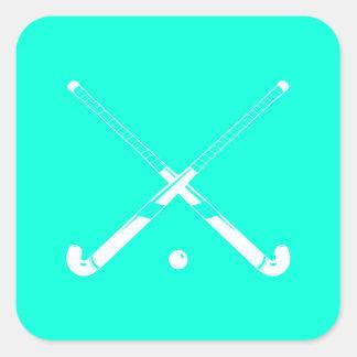 Field Hockey Silhouette Sticker Turquoise