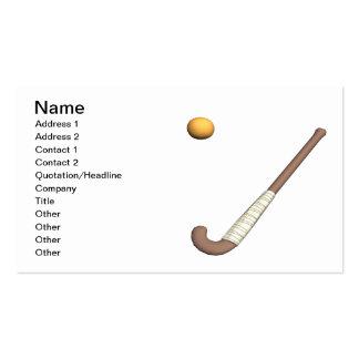 Field Hockey Stick & Ball Business Card Template