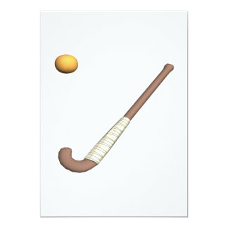 Field Hockey Stick & Ball Card