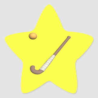 Field Hockey Stick & Ball Star Stickers
