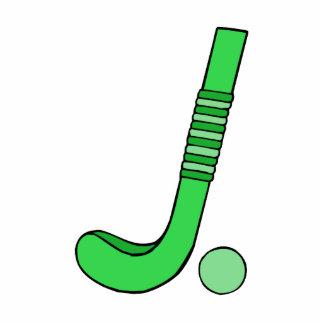 Field Hockey stick green Statuette