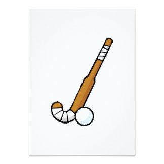 Field Hockey stick 5x7 Paper Invitation Card