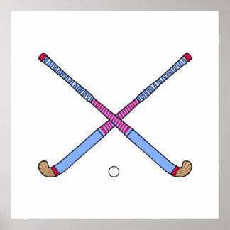 Field Hockey Sticks Poster