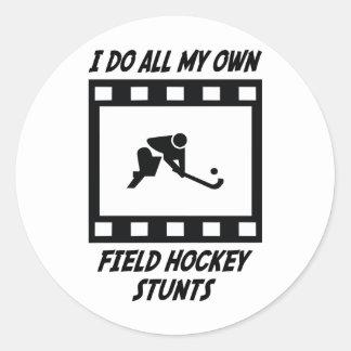 Field Hockey Stunts Classic Round Sticker