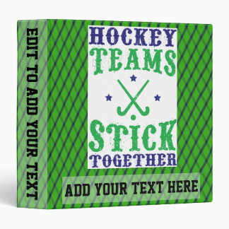 Field Hockey Teams Stick Together 3 Ring Album Binder